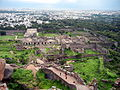 Golkonda Fort view from a building situated at the top of the fort.JPG