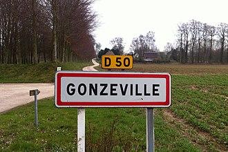 Gonzeville - Image: Gonzeville panneau