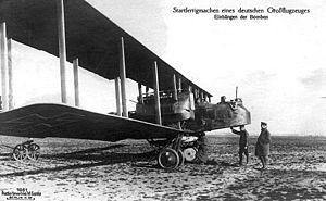 Royal Observer Corps - A Luftstreitkräfte bomber; the Gotha G.V