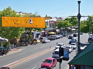 Gouger Street, Adelaide - Gouger Street, looking westward from the Adelaide Central Market.
