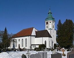 Grünkraut Kirche und Friedhof