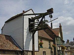 Steelyard balance - Eighteenth century cart balance at Fountains Lane, Soham