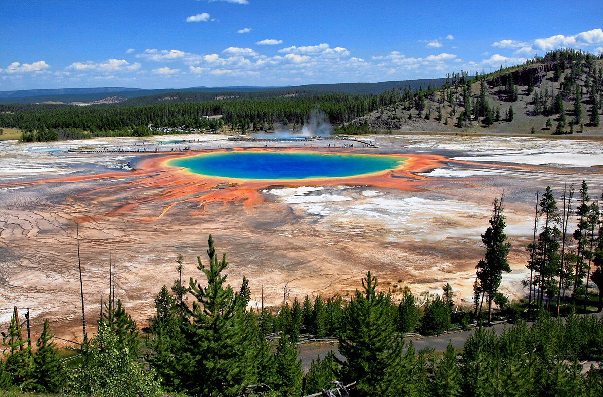 Yellowstone Park Elevation : Grand prismatic spring wikipedia