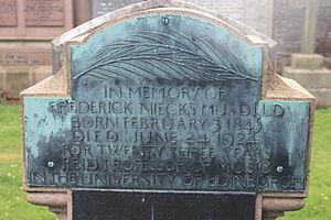 Frederick Niecks - grave of Frederick Niecks, Grange Cemetery