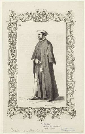 Ottoman Greece - Engraving of a Greek merchant (16th century)