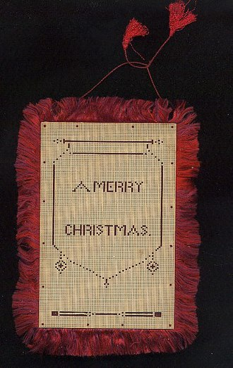 Christmas in the American Civil War - A silk Christmas card, ca. 1860