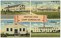 Greetings from Camp Gordon, Ga. -- guest house, sports arena, U. S. Post Office, division headquarters (8367044741).jpg