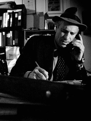 Greg Palast - Palast in his New York City office