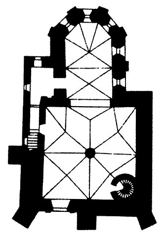 Chapel of the Holy Trinity, Lublin Castle - Plan of the chapel