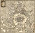Grundriss der kaiserlich königlichen Residenz-Stadt Wien, ihrer Vorstädte und der anstoßenden Orte, unter der Direction des Hof-Mathematici aufgenommen von den Ingenieuren Joseph Neusner und Karl Braun (1770).jpg