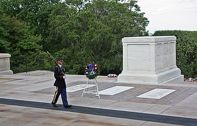 Guard at the Tomb of the Unknowns in Arlington National Cemetery 2.jpg