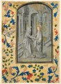 Guillaume Vrelant - Leaf from a Book of Hours- Annunciation to the Shepherds - 1954.140.1 - Cleveland Museum of Art.tif
