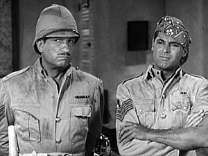 Gunga Din (film) - Still from Gunga Din trailer showing Victor McLaglen and Cary Grant