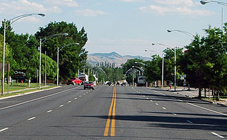 Gunnison, Utah - Looking south down Gunnison's Main Street (US-89), June 2005