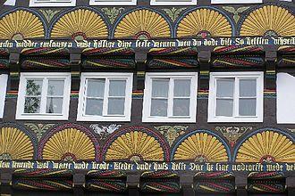 Höxter - Half-timbering at the Haus Litto, Marktstraße 13