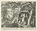 H. Arnulphus van Metz als kluizenaar Heiligen en kluizenaars (serietitel), RP-P-1904-3315.jpg