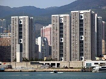 Clague Garden Estate in Tsuen Wan