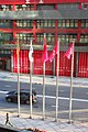 HK WC 灣仔北 Wan Chai North 港灣消防局 Kong Wan Fire Station 港灣道14號 Harbour Road flagpoles May 2018 IX2 01.jpg