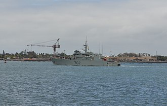 HMCS Nanaimo (MM 702) - Underway in San Diego, California on 27 June 2014