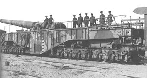BL 14-inch Railway Gun - Scene Shifter at Camiers, France, 1918