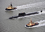 HMS Astute Arrives at Faslane for the First Time MOD 45150821.jpg