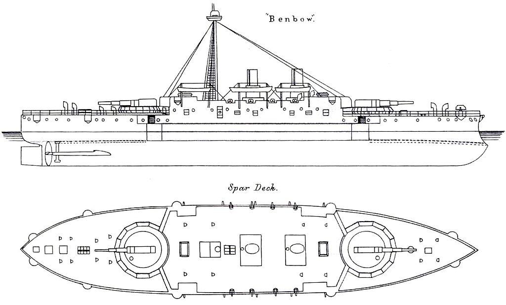 Elevation Plan Wiki : Fichier hms benbow starboard elevation and deck plan g