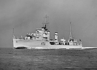 G and H-class destroyer - Gallant at sea, 28 April 1938