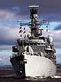 HMS Lancaster sails across Gareloch. MOD 45147613.jpg