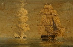 Third-rate - A painting of HMS Melville (1817), a British third-rate