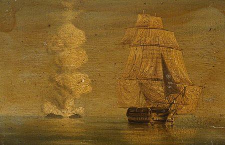 Une nouvelle île au sud de la Sicile (juillet 1831) 450px-HMS_Melville_and_Graham_Island