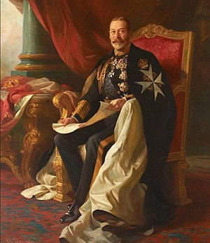 Order of Saint John (chartered 1888) - King George V, Sovereign Head of the order from 1910 until his death in 1936