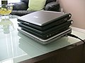 HP Mini-Note 2133, Asus Eee PC 701 and Everex Cloudbook .jpg