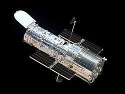Hubble seen from Space Shuttle Atlantis