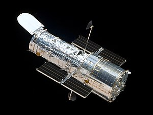 1990 in the United States - April 24: Hubble Space Telescope in orbit