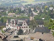 Hadamar - Schloss vom Herzenberg aus