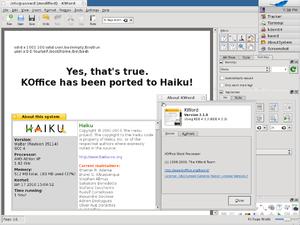 KOffice - Experimental port of KOffice 2.1 to Haiku.
