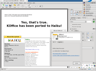 KOffice - Experimental port of KOffice 2.1 to Haiku.
