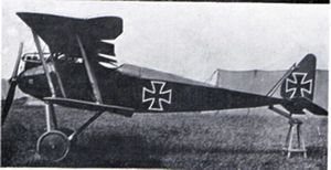 Halberstadt D.II - Halberstadt D.II painted in a dark colour - allegedly flown by Boelcke