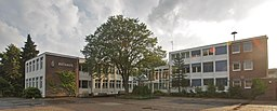Halstenbek, Germany: Central square and town hall