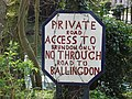Hand painted sign in Brundon - geograph.org.uk - 550638.jpg