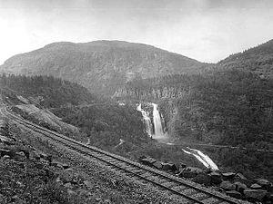 Hardanger Line - The Hardanger Line near Skjervet in 1933