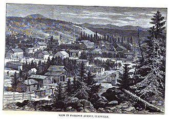 Leadville Historic District - Image: Harrison Ave Leadville 1880