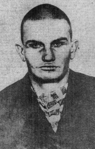 Harry Tracy - Tracy's mugshot as an inmate in the Oregon State Penitentiary.