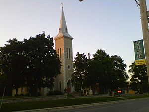 Hastings, Ontario - A Catholic church located in the north part of Hastings, on Albert Street East.