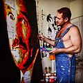 Havi Schanz painting Robin William's portrait.jpg