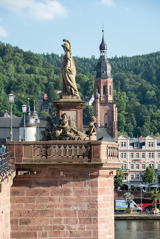 Heidelberg, Alte Brücke, Heiliggeistkirche 20170601 004