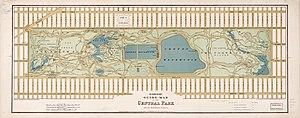 Jacqueline Kennedy Onassis Reservoir - Heinrich's 1875 Guide Map of Central Park