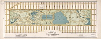 Jacqueline Kennedy Onassis Reservoir - Heinrich's 1875 Guide Map of Central Park