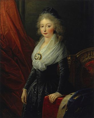 Marie Thérèse of France - Marie-Thérèse in Vienna in 1796 soon after her departure from Revolutionary France.