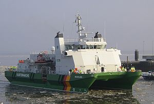 German Federal Coast Guard - Customs Cruiser (Zollkreuzer) Helgoland (a SWATH-Vessel)